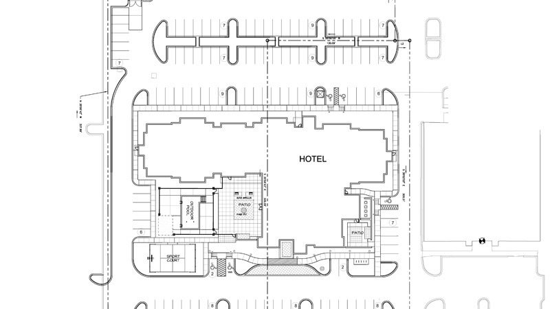 blueprint for hotel civil engineering project