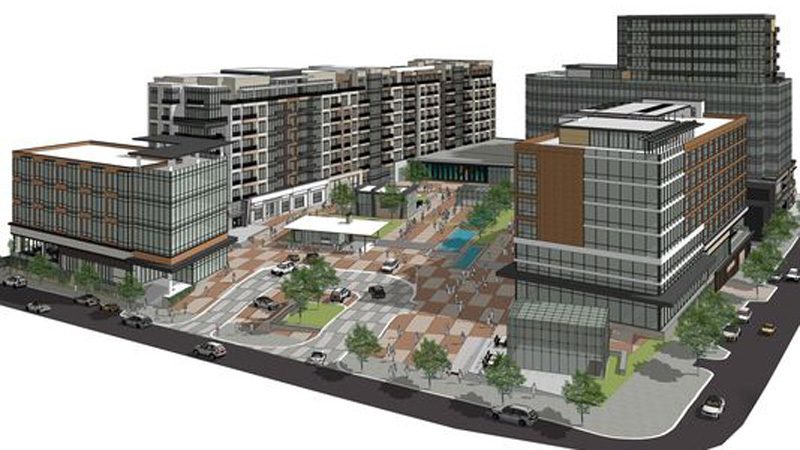mock up of redevelopment engineering project