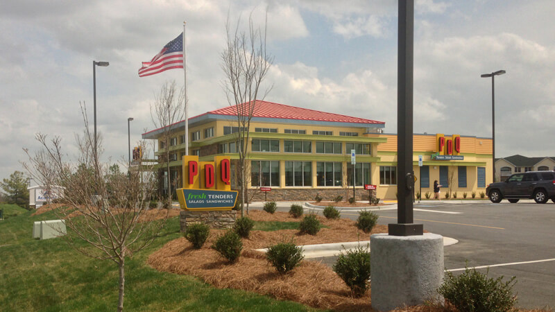 pdq restaurant designed by bluewater civil engineering