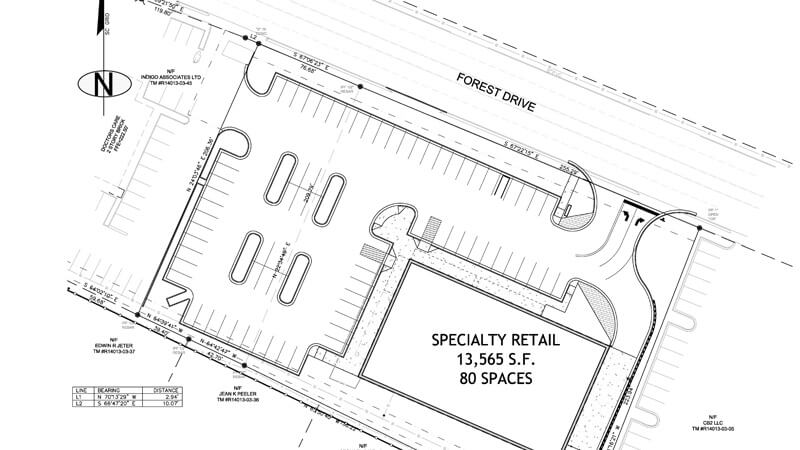 small retail civil design blueprint