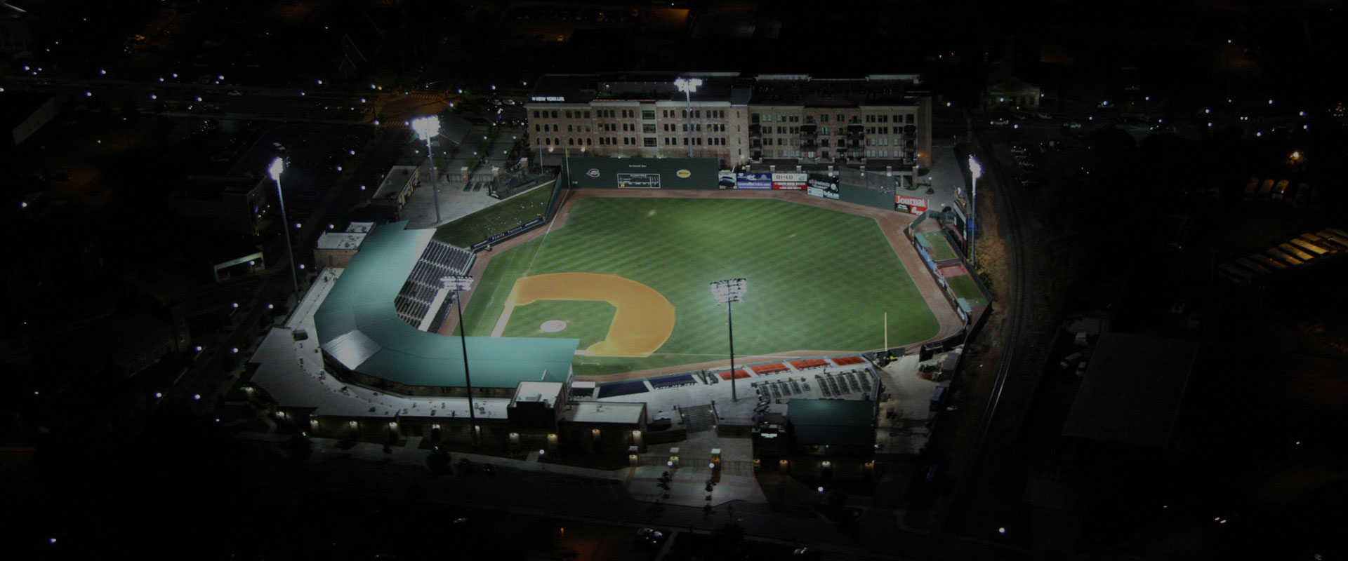 baseball stadium in greenville designed by bluewater